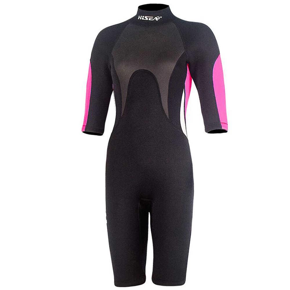 Vrouwen Duiken Pak UV Beschermende Wetsuit Snorkelen Scuba Surfen Zwemmen 2.5 MM Neopreen Duiken Jumpsuit Een stuk Badmode