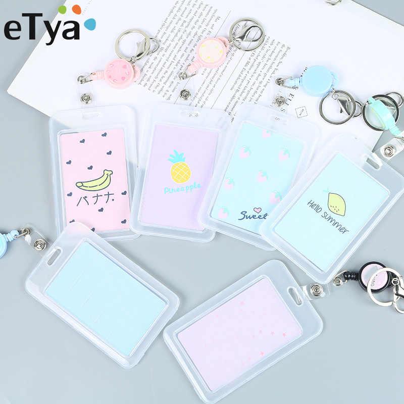 ETya милый кот банковских и идентификационных держатель для карт карты чехол мультфильм студент Для женщин Для мужчин Бизнес кредитной держатель для карт s сумка кошелек подарок для детей