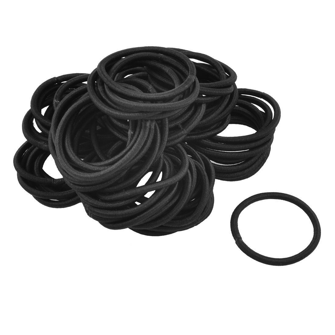 HOT New Beautiful 80 Pcs Black Elastic Rubber Hair Band Ponytail Holders for Lady beautiful darkness