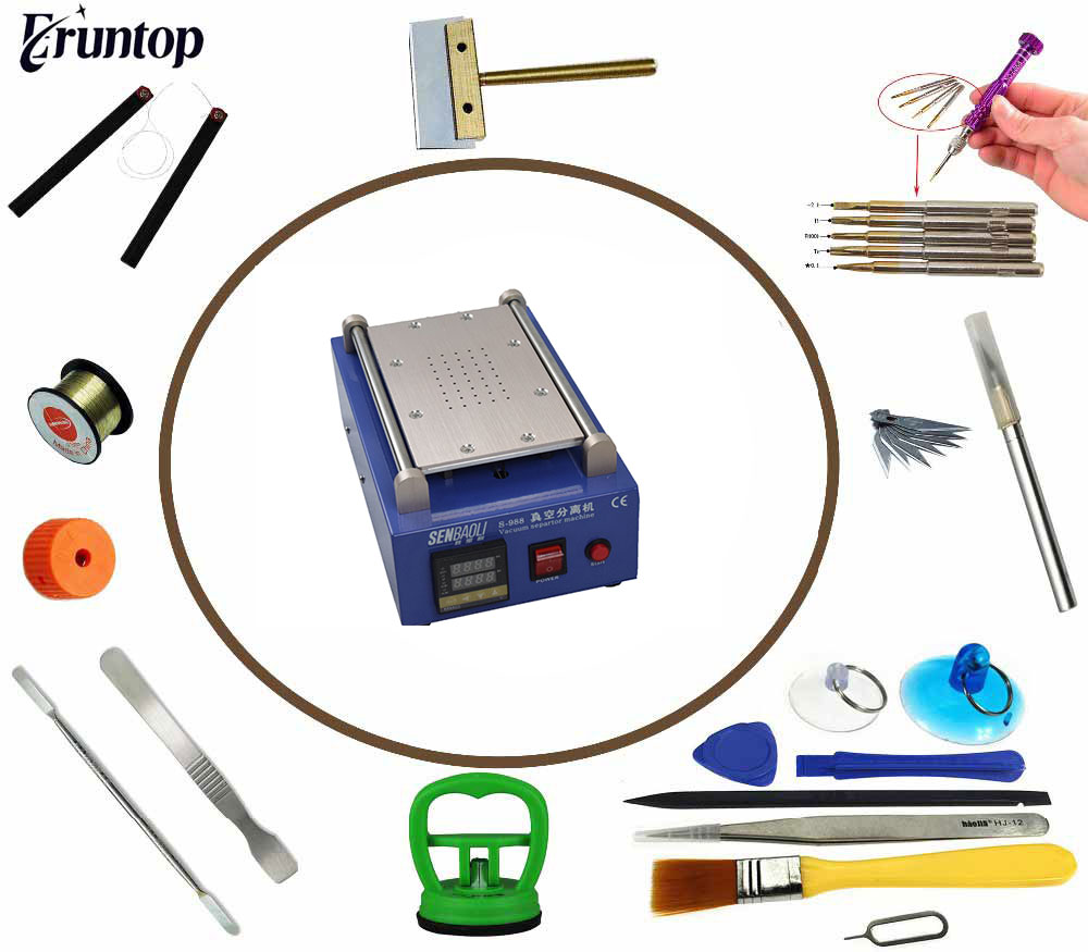 Haute Qualité 7 pouces 110/220 Tactile En Verre Panneau LCD Machine de Séparation de L'écran pour Portable LCD De Réparation