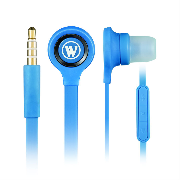 Wallytech WHF-115 Flat Cable in-ear Earphones For iPhone 5 For iPhone 5s For iPhone 6s For iPhone 6plus Handsfree With Mic