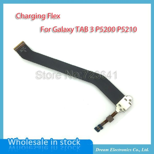 MXHOBIC 50pcs/lot For Tab3 P5200 Charging Flex Cable USB Dock Connector Charger Port For Samsung Galaxy Tab 3 P5210 Replacement