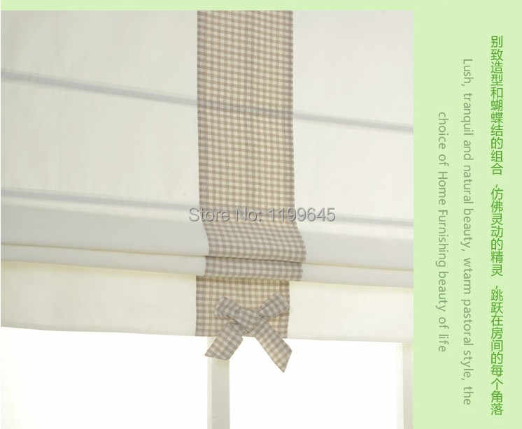 Included Curtains New Arrival Thickening Linen/Cotton Striped Roman Shade Blinds The Finished Curtain free Shipping