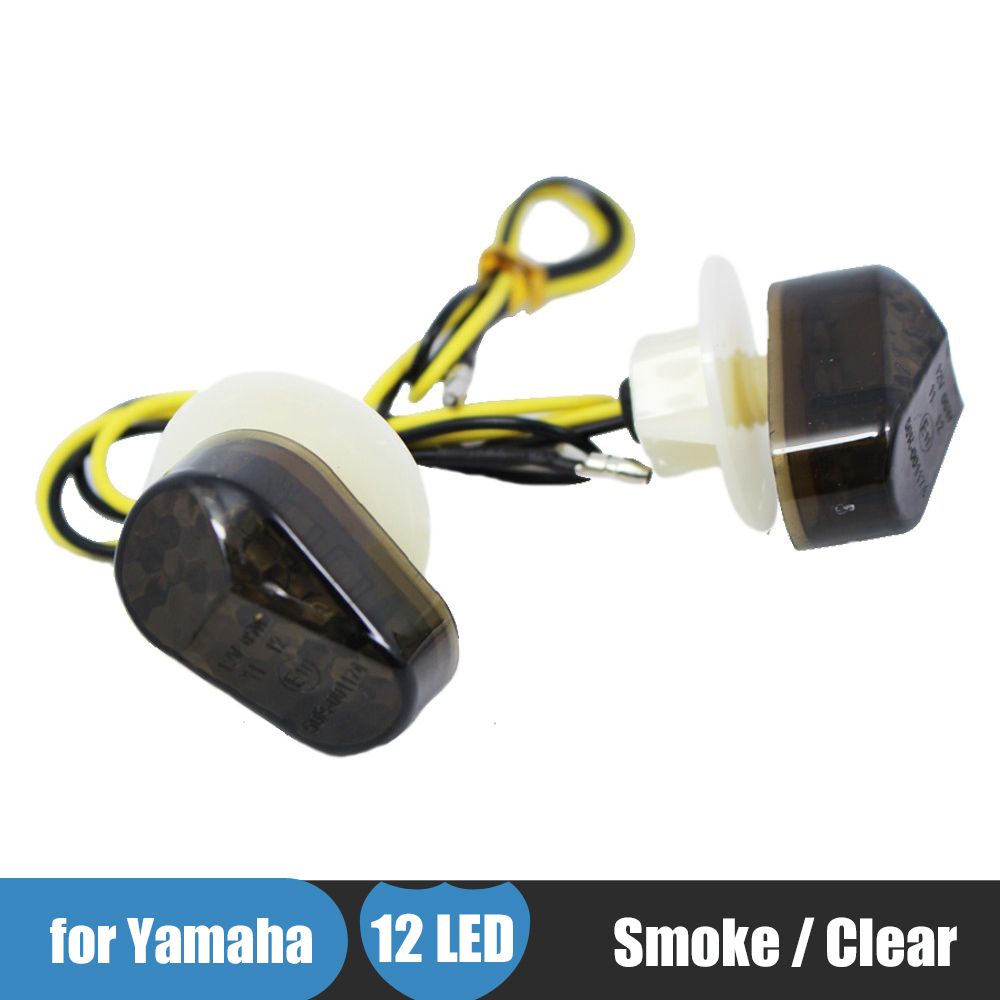 Motorcycle Turn Signal Flush Mount LED Indicator Light Moto Flashing for Yamaha YZF R1 R6 YZF R6S FZ1S FAZER 1000 FZ6S FAZER 600