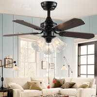 LED Ceiling Fans With Lights Remote Control Ventilador De Techo Bedroom Dinning Room Ceiling Light Fan Lamp E27 Bulbs