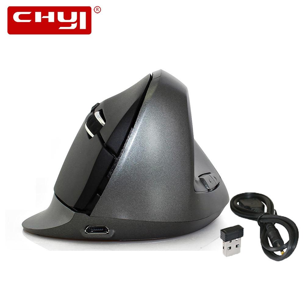 Vertikální bezdrátová myš nabíjecí optická Souri Mause Ergonomická herní myš Gamer 10m 2.4Ghz Dikey Kablosuz Sem Fio Nová myš