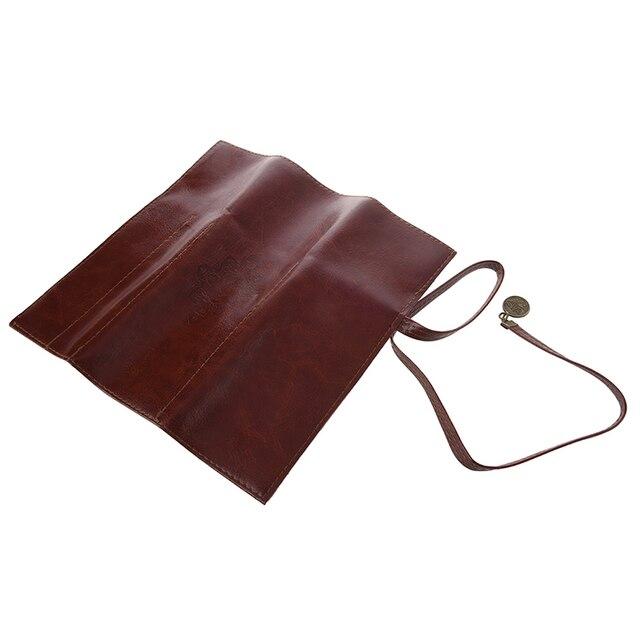 1 pc Case PU Leather Pen Pencil Case Pencil Bag Cosmetic Brush Bag 3