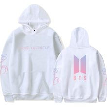 LUCKYFRIDAYF Harajuku BTS Kpop Love Yourself felpe roupas Sweatshirt Bangtan Boys Hoodies Women Clothing oversized hoodie 4xl