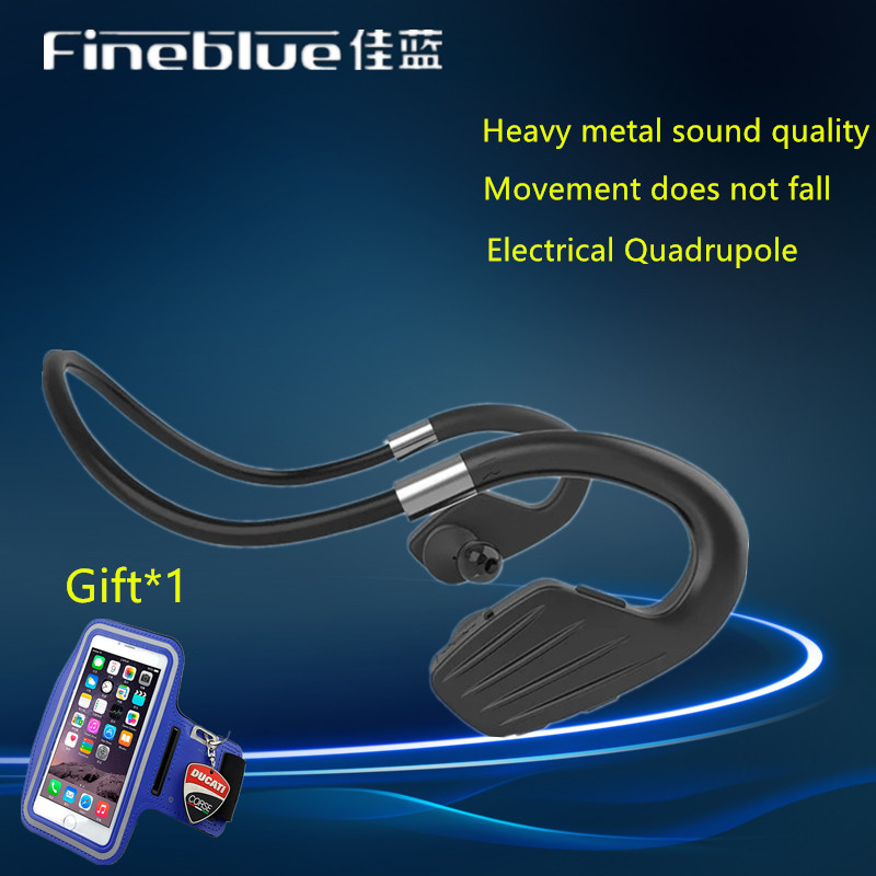 New fineblue M1 Waterproof Sports Headset Wireless Bluetooth V4.1 Earphone Ear-hook Running Headphone with Mic Music Playing wireless headphones v4 1 bluetooth earphone stealth sports headset ear hook earpiece with mic for iphone 7 7s samsung xiaomi