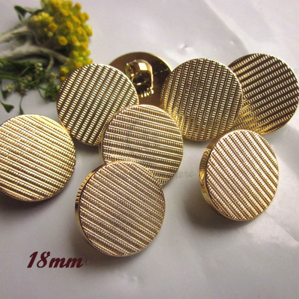 60pcs 18mm high quality gold Lattice twill suit coat buttons for sewing cardigan sweater ...