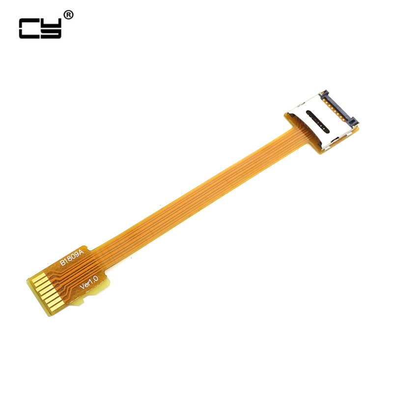 Micro SD TF Memory Card Kit Male To Female Extension Cable Soft Flat FPC Cable Extender 10cm