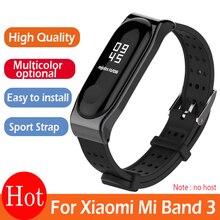 Dla Xiaomi Mi Band 3 bransoletka pasek Miband 3 sport nadgarstek wymiana pasek na oryginalny Xiaomi Mi zespół 3 pasek młodzieży
