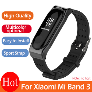 Image 1 - Xiaomi Mi Band 3 bilezik kayışı Mi Band 3 spor bileklik yedek askı için orijinal Xiaomi Mi Band 3 gençlik kayış