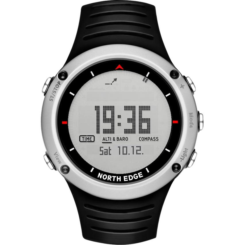 Северная край Для мужчин спортивный цифровые часы Бег Одежда заплыва спортивные мужские часы альтиметр барометр Компасы термометр погода