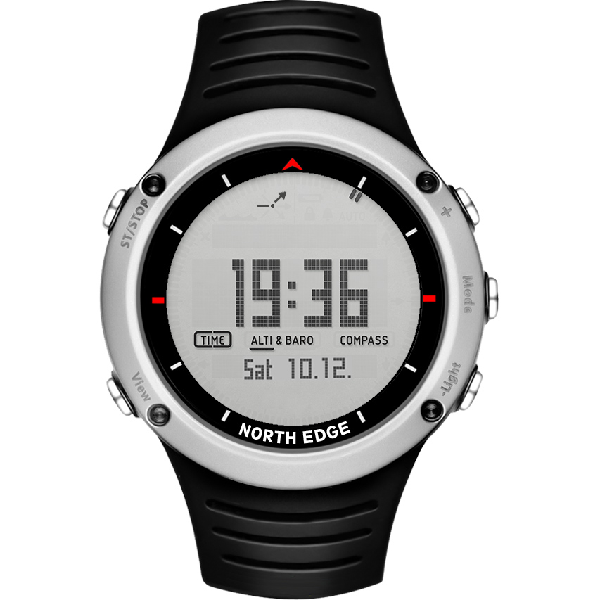 NORTH EDGE Men's sport Digital watch Hours Running Swimming sports men watches Altimeter Barometer Compass Thermometer Weather men s sport digital watch hours running swimming watches altimeter barometer compass thermometer weather pedometer digital watch