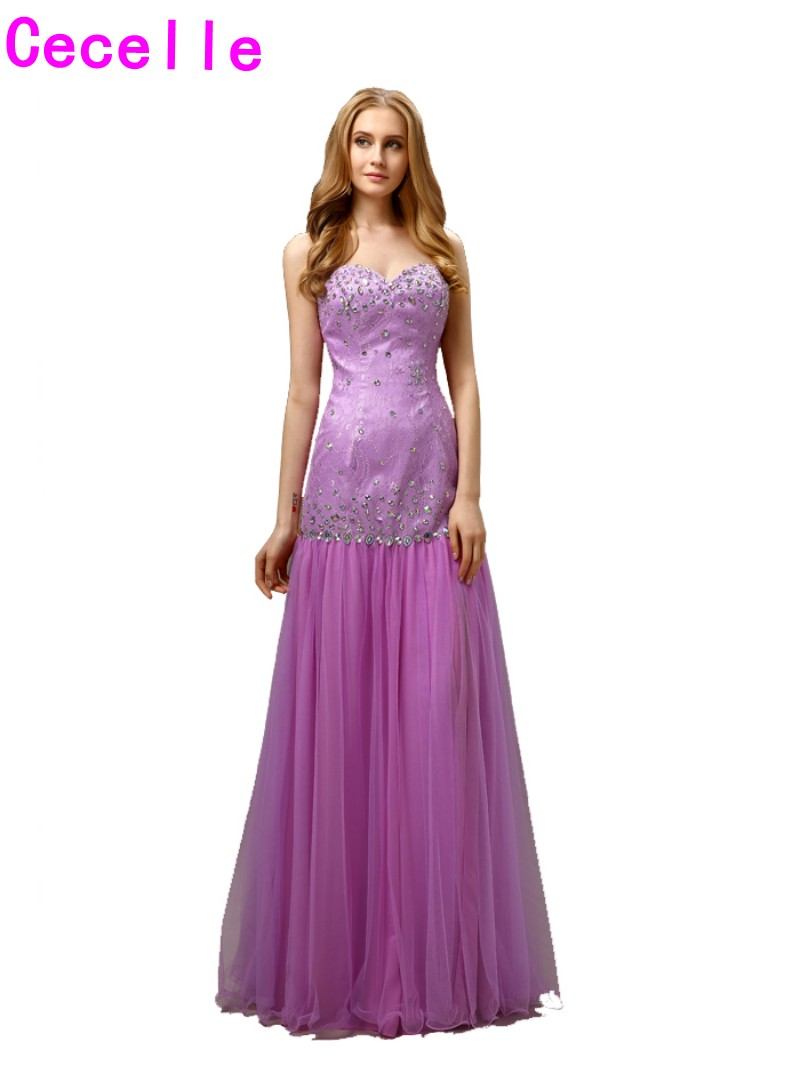2017 New Best Selling Designer Long Lilac Mermaid Prom Dresses ...