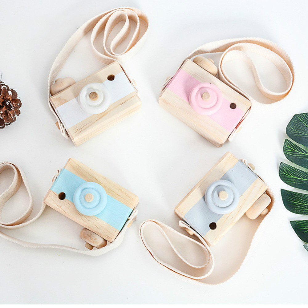 2019 Cute Nordic Hanging Wooden Camera Toys Kids Toys Gift 9.5X6X3cm Room Decor Furnishing Articles Christmas Gift  Wooden Toy