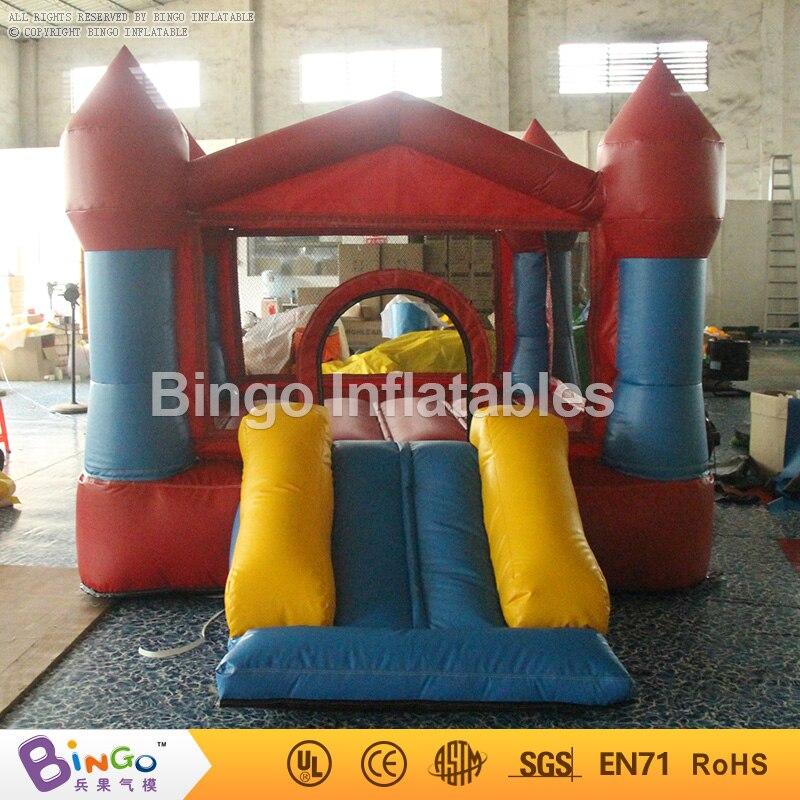 12ft * 9ft * 7ft надувные Направляющие для детей ПВХ Батут Отказов Дом детей Направляющие и Качели с вентилятором сенсорными игрушки
