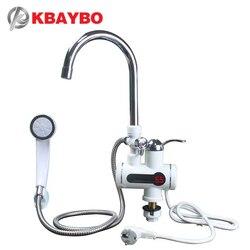 3000W Tankless دش مسخن للمياه المياه الفورية سخان مياه الحنفية المطبخ الفورية صنبور 2 أنواع من خارج وضع