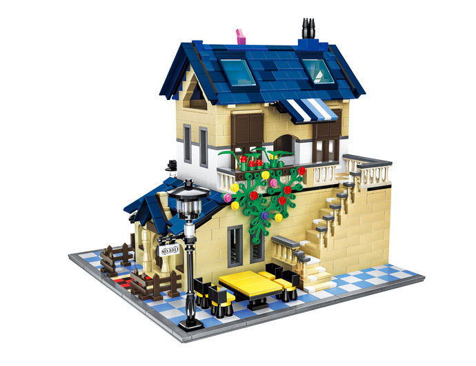 Architecture series the Rural villa Model Building Blocks set Classic house education Toys for children5311 in Blocks from Toys Hobbies