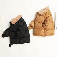 Детская куртка-бомбер г. Новые зимние парки с отложным воротником для маленьких мальчиков одежда для малышей теплая зимняя одежда