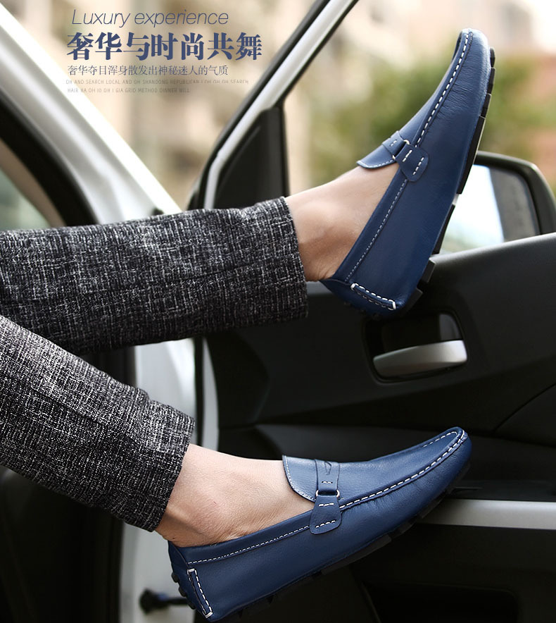 e0c02ee948c Men Flats 2017 New Best Quality Genuine Leather Casual Shoes Soft Penny  Loafers Comfortable Driving Boat Shoes Sapatos-in Men s Casual Shoes from  Shoes on ...