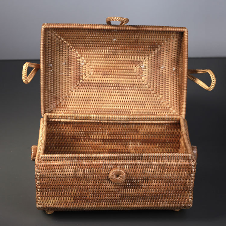 25x16CM Rattan Hand Made Jewelry Box Small Suitcase Fine Bow Tie Women Storage  Box A4173 In Top Handle Bags From Luggage U0026 Bags On Aliexpress.com |  Alibaba ...