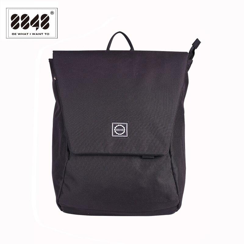 8848 New Design Men Backpack College School Bag Black Waterproof High Quality Large Capacity Travel Backpack Male 126-048-001