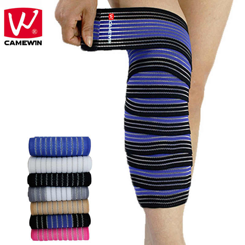 CAMEWIN Brand 1 Pair 120*7.5 CM Adjustable Sports Knee Protector Bandages Elastic Force Knee Elbow Wrist Ankle Support Knee Pads