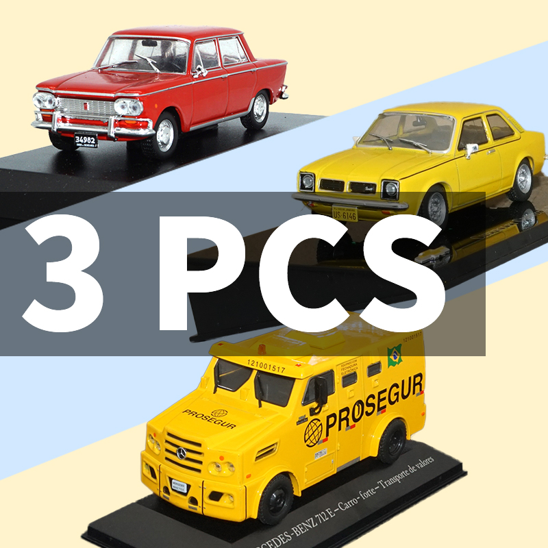 1/43 Model Car Toy 3pcs Car Metal Toy Diecasts Toy Vehicles Vintage Sport for FIAT 1500/Chevrolet SL/MERCEDES BENZ 712E
