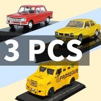 1/43 Model Car Toy 3pcs Car Metal Toy Diecasts Toy Vehicles Vintage Sport for FIAT 1500/Chevrolet SL/MERCEDES BENZ 712E