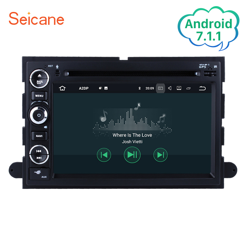 Seicane 2Din Android 7.1 7inch Car Radio Stereo GPS Multimedia Player Wifi Head Unit For 2006 2007 2008 2009 2010 Ford Explorer