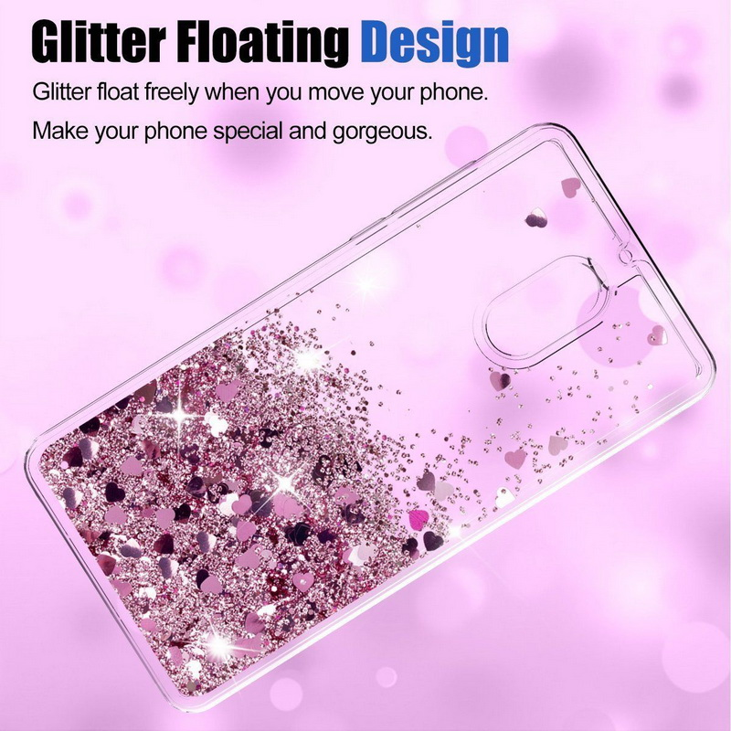 Lovely Glitter Hearts Stars Liquid Quicksand Case For <font><b>Nokia</b></font> 3 5 6 2018 Soft Silicon Clear <font><b>Back</b></font> <font><b>Cover</b></font> For <font><b>Nokia</b></font> 6 <font><b>8</b></font> 7 Plus Fundas image