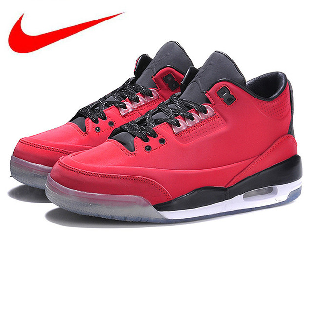 low priced 79af1 2e4e3 Hot Sales Original Nike Air Jordan III Retro 213 Women s Breathable  Basketball Shoes Comfort Sneakers, Red Color
