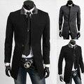 Homens moda de alta qualidade de poeira dos homens casaco de inverno casaco trench casacos para homens H752M-XXL