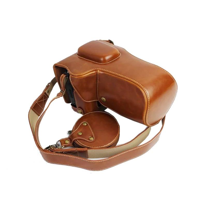 New Luxury PU Leather Camera Case Bag For Nikon D800 D810 24-70mm Lens With Strap Mini Battery case Open Battery Design 100%new original d810 shutter for nikon d810 blade unit assembly component digital camera repair part dslr camera parts