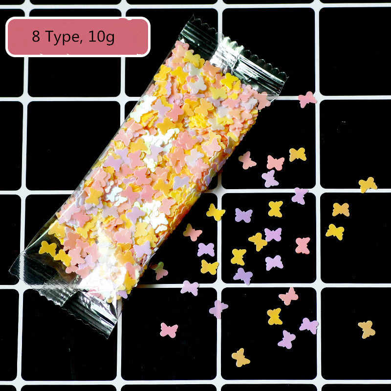 8 Types Sequins Filler For Clear/Fluffy Slime Charms Lizun Slime DIY Kit Accessories