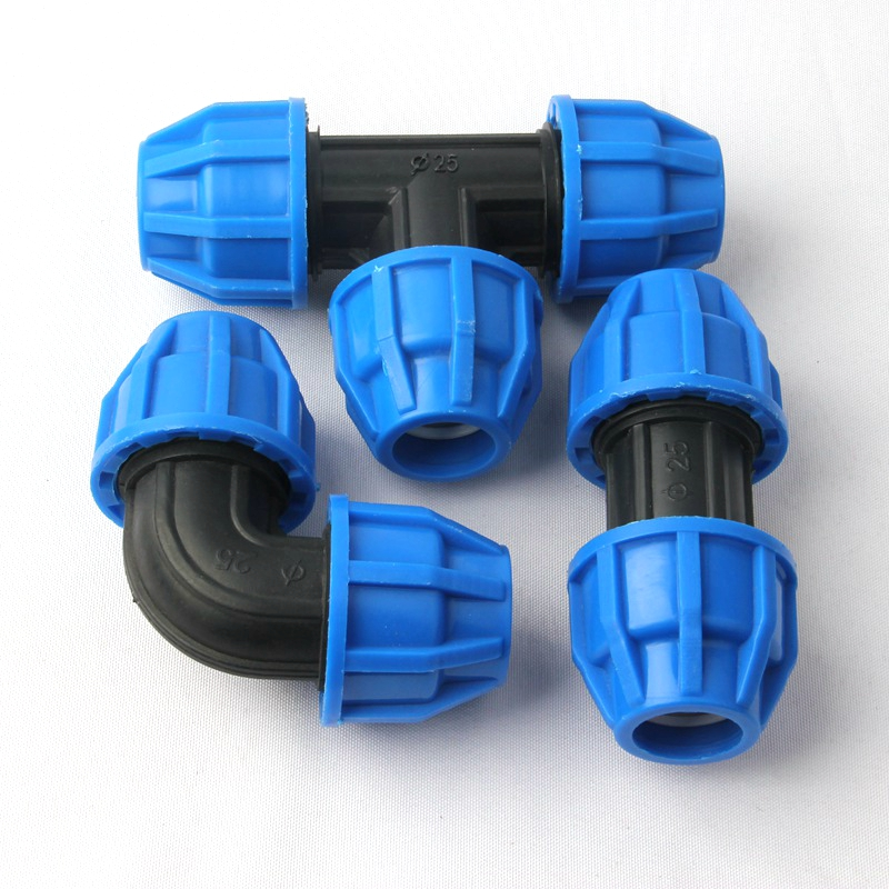 3pcs 25mm Garden Water Pipe Connector Aquarium Agricultural Irrigation System Fittings PE Elbow Tee Connectors Irrigator Joint image
