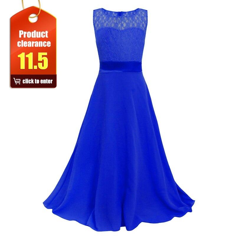 フラワーガールのドレスはレースの子供ガールトップグレードエレガントなチュール初聖体夜会服ページェントドレスパーティーロングドレス lace002