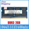 Для hynix чип Новый PC3-8500 DDR3 2 ГБ 1066 1333 1600 мГц/10600/12800 памяти для Ноутбука ноутбук ОПЕРАТИВНОЙ ПАМЯТИ хорошее качество