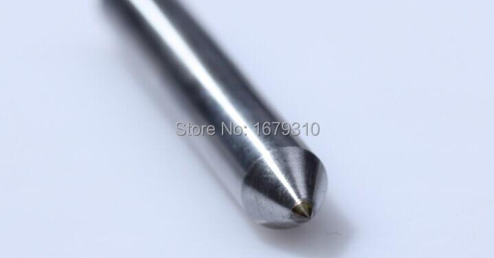 incisore con diamante naturale a punta di diamante per incisione su metallo D3mm incisore a 120 gradi 5 pezzi / lotto