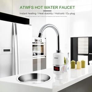 Image 5 - ATWFS natychmiastowo gorący bojler Tap szybki natychmiastowy termostat do bojler 3000w wyświetlacz temperatury kranu elektrycznego