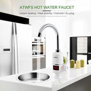Image 5 - Termostato instantâneo para torneira atwfs, aquecedor de água quente instantâneo rápido para torneira elétrica 3000w com display de temperatura