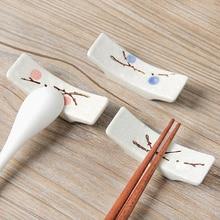 Керамические снежинки японские кухонные палочки для еды Подушка палочка для еды держатель для палочек 1 шт