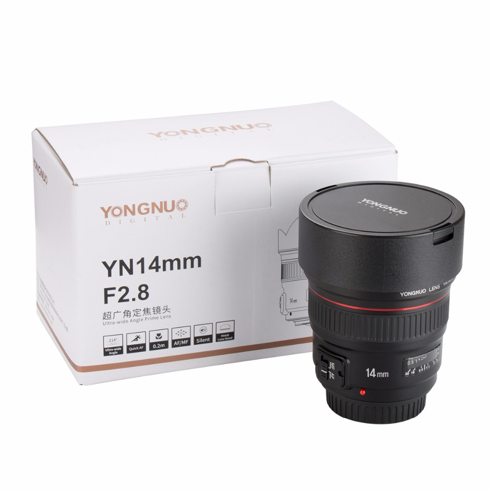 Presell YONGNUO 14mm F2.8 Ultra wide Angle Prime Lens YN14mm Auto ...