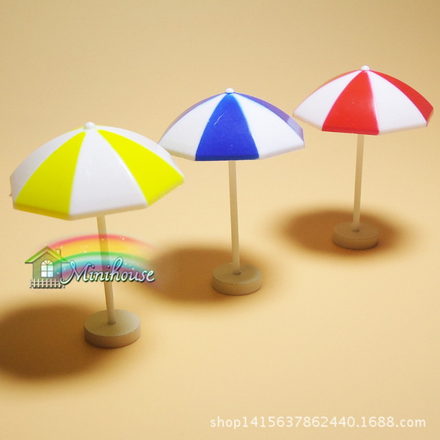 1:12 Cute MINI Dollhouse Miniature Adornment Parasol in Furniture