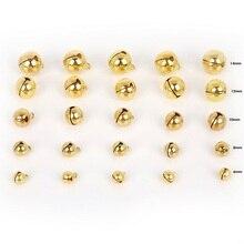 20-100 шт 6 мм/8 мм/10 мм/12 мм/14 мм золотые медные бусины, маленькие колокольчики, украшение для рождественской елки, украшение для дома