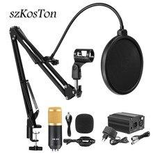 Bm 800 stüdyo mikrofonu profesyonel Karaoke kondenser mikrofon kitleri bm800 bilgisayar mikrofon canlı yayın kayıt