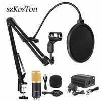 Bm 800-Micrófono de estudio profesional, kit de micrófono de condensador PARA Karaoke, micrófono de ordenador bm800 para grabación en vivo