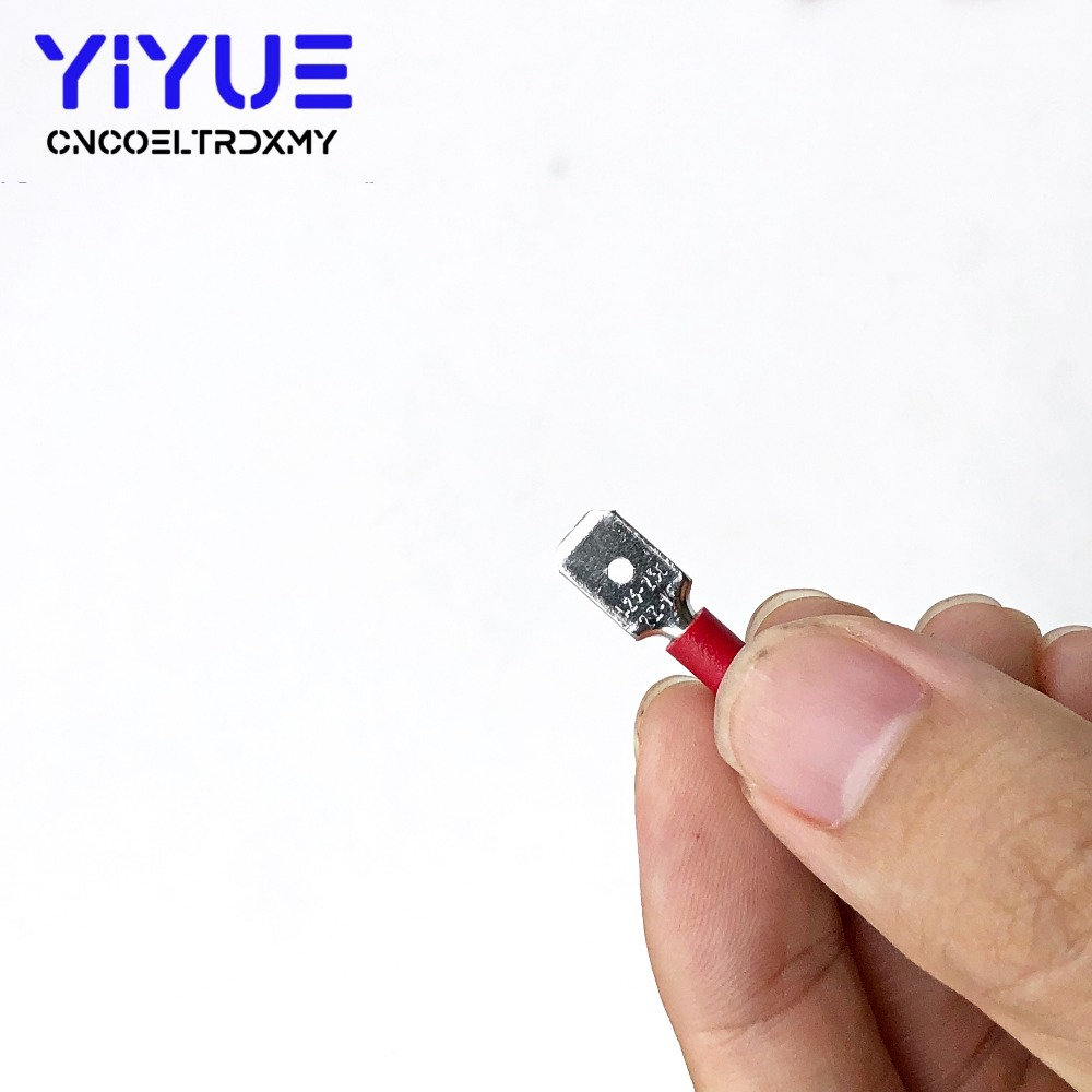 6.3mm 22-16AWG Female Male Electrical Wiring Connector Insulated Crimp Terminal (4)